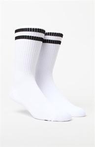 PacSun Two Stripe White & Black Gym Socks
