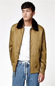 Modern Amusement Aviator Zip Bomber Jacket