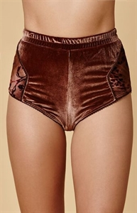 Somedays Lovin Marie Burnout Velvet High-Waisted Panties