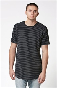 PacSun Sapling Striped Extended Length Scallop T-Shirt