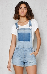 PacSun Ghost Blue Denim Shortalls
