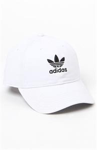 adidas Washed White Strapback Dad Hat