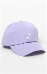 Vans Court Palm Tree Lavender Strapback Dad Hat