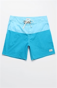 "Modern Amusement Oragatory Colorblock 18"" Swim Trunks"