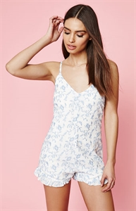 Kendall & Kylie Embroidered Ruffle Romper