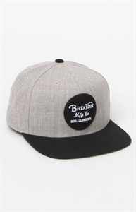 Brixton Wheeler Grey Heather & Black Snapback Hat