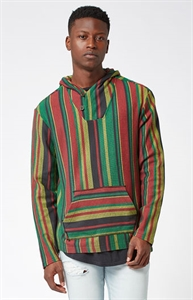 PacSun Walsh Striped Poncho