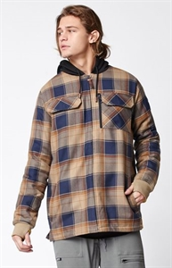 Quiksilver Connector Plaid Flannel Riding Shacket