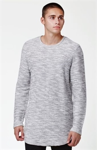 PacSun Tule Crew Neck Extended Length Scallop Sweater