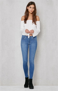 Levi's Far Out Indigo 711 Skinny Jeans