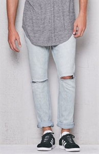 PacSun Skinny Ripped Acid Wash Stretch Jeans