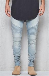 PacSun Stacked Skinny Moto Light Indigo Active Stretch Jeans