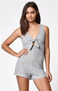 Kendall & Kylie Tie Front Knit Romper