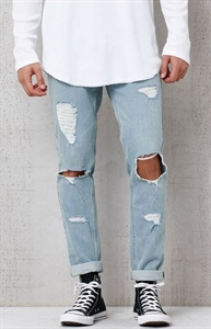 PacSun Skinny Destroyed Light Wash Stretch Jeans