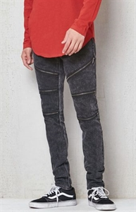 PacSun Stacked Skinny Zipper Stretch Jeans