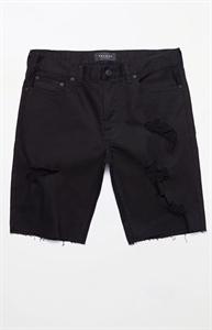PacSun Skinny Black Destroyed Cutoff Denim Shorts