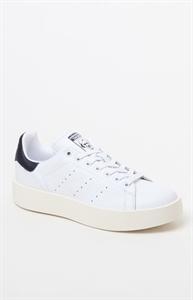 adidas Women's Stan Smith Bold White & Navy Sneakers