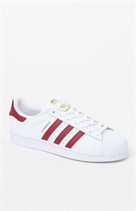 adidas Superstar White & Burgundy Shoes