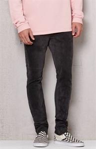 PacSun Stacked Skinny Side Zip Black Raw Hem Stretch Jeans