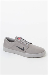 Nike SB Portmore Ultralight Canvas Grey & Black Shoes