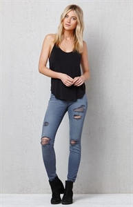 PacSun Slate Gray Ripped Jeggings
