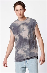 PacSun Pemphredo Cap Sleeve Destroyed Muscle Tank Top