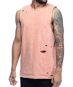 Ninth Hall Fracture Cameo Brown Muscle Tank Top