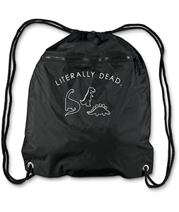 A-Lab Literally Dead Black Cinch Bag