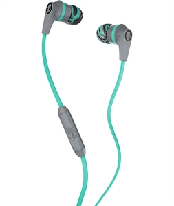 Skullcandy Ink'd 2.0 Mic'd Grey, Mint & Grey Headphones