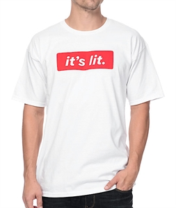 Artist Collective It's Lit White T-Shirt