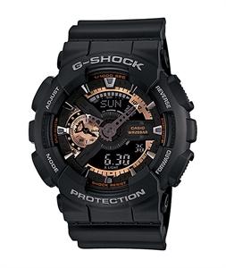 G-Shock GA-110RG-1A Black & Rose Gold Analog Watch