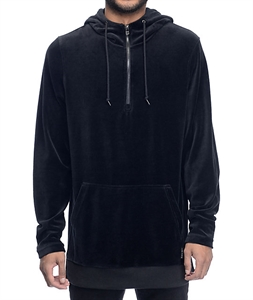 Ninth Hall Legend Black Velour Hoodie