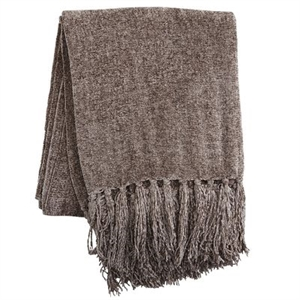 Taupe Chenille Throw