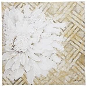 White Floral Lattice Art