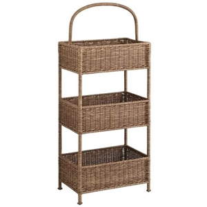 Collin Tiered Light Brown Basket