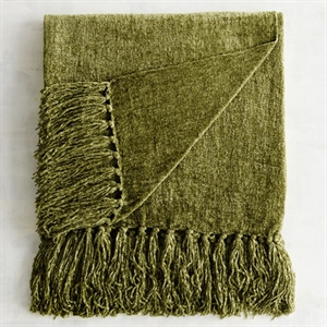 Olive Chenille Throw