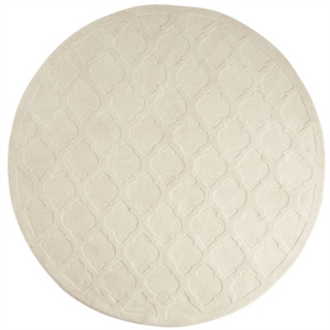 Moorish Tile Ivory 8' Round Rug