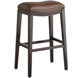 Halsted Pecan Brown Backless Bar Stool