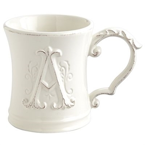 Elizabeth Monogram Mug - A
