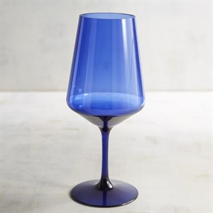 Clarity Blue Acrylic Tall White Wine Glass