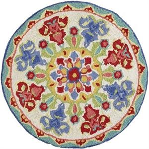 Nalini Floral Round Rug - 3'
