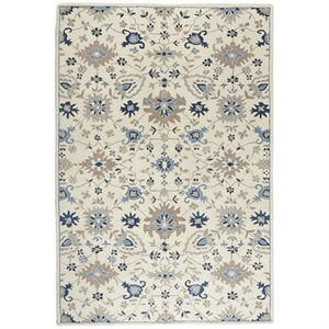 Reese Blue Traditional 6x9 Wool Rug