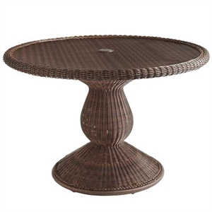 """Sunset Pier 48"""" Chestnut Brown Round Dining Table"""