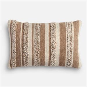 Magnolia Home Zander Beige & Ivory Lumbar Pillow