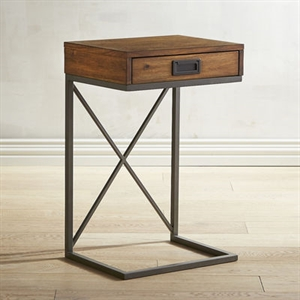 Mazza C-Table with Storage Drawer