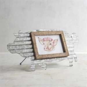 Oink Oink Galvanized 5x7 Photo Frame