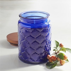 Sapphire Orchid Filled Trellis Jar Candle
