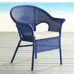 Casbah Blue Stacking Chair